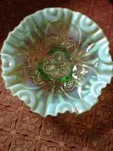 Rare Fenton Green Candy Dish 3 Legs Beautiful D... - $65.00