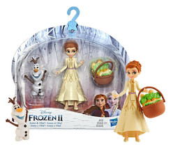 Disney Frozen II Olaf & Anna 4in Doll with Travel Basket New in Package - $12.88