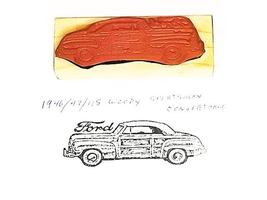 Collector Car Rubber Stamps 1946-48 Woody Sportsman Convertible Rubber Stamp