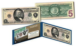 Morgan Silver Back 1886 $5 Grant Silver Certificate Banknote on Modern $... - $29.65