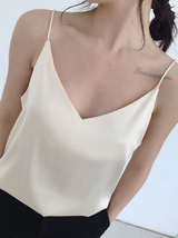 Pale Blue V-Neck Sleeveless Ladies Chiffon Tank Top Wedding Bridesmaid Tanks Top image 7