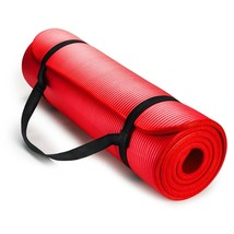 Exercise Mat Thick HD Foam RED Yoga Floor Pilates Stretching Gym Workout... - $503,40 MXN