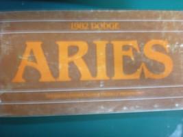 1982 Dodge Aries Owners Operators Manual - $3.95