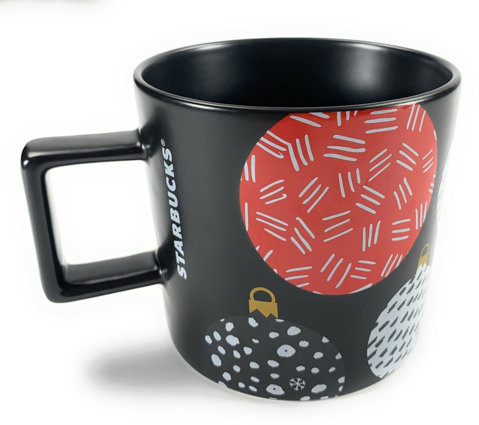 Starbucks Coffee Co. Christmas Ornament Black, Red, White 14 Oz. Cup Mug 2016 image 1