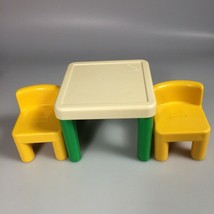 Dollhouse table chairs Little Tikes toy furniture Vintage toy pretend play - $20.67