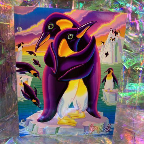 Lisa Frank Pocket Folder Hugging Penguins Excellent Condition 90s Vintage
