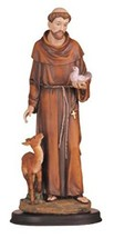 George S. Chen Imports 5-Inch Saint Francis Holy Figurine Religious Deco... - $10.47
