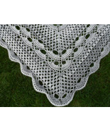 Triangle Crochet Scarf, Large Wrap, Chunky Wool Crochet shawl, Womens ac... - $69.00