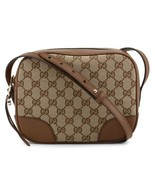NEW Gucci Beige Brown GG Guccissima Leather Bree Crossbody Camera Should... - $696.25
