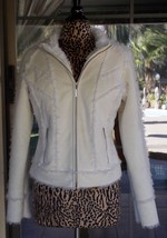 "Faux Suede & Shearling Authentic Guess Jeans Coat Jacket Sz. L  40""  Bust  - $64.34"