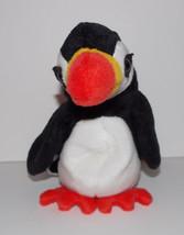 Ty Beanie Baby Puffer Plush 6in Puffin Bird Stuffed Animal Retired 1997 - $3.99