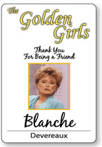 BLANCHE DEVEREAUX GOLDEN GIRLS HALLOWEEN COSPLAY PROP NAME BADGE PIN BACK - $13.85