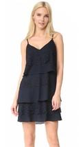 Diane Von Furstenberg DVF Livona Lace Dress Navy Blue SIZE 0 Tiered Layer   - $63.32