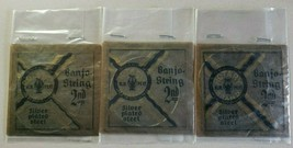 Vintage Rotary Silver Plated Steel Banjo Strings 2nd Lot of 3 NOS - $34.99