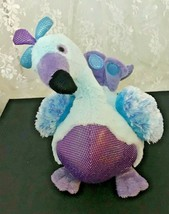 "GANZ Webkinz Blufadoodle Peacock HM453 Plush Toy 9"" Tall No Code - $8.49"