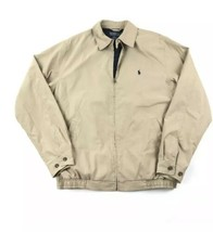 Vtg Polo Ralph Lauren Harrington Jacket Mens XL Plaid Lined Khaki Tan Bo... - $39.55