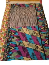 "New HANDMADE One-of-a-Kind Kantha Quilt Throw 60""x90"" Many Uses & Eco-Fr... - $79.95"