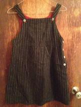 Vintage GAP kids Wool Blend Gray Pinstripe Overalls SZ XL - $44.55
