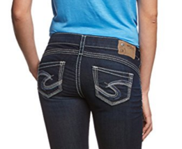 Silver J EAN S Shorts Low Rise Camden Rose Dark Stretch Denim Jean Short 25 26 New - $45.10