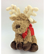 First Impressions Reindeer Moose Brown Red Bow Macy's Baby Toy Plush Red... - $38.64