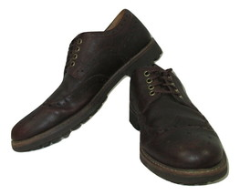 Clarks Oxford Wingtip Shoes Brown Leather Mens Size 9.5 Dress 21951 Lace Up - $29.67