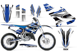 Decal Graphic Kit Wrap + Number Plates For Yamaha YZ125 YZ250 2015-2018 TECK BLU - $249.95