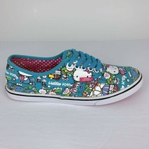 Vans Classics Hello Kitty Shoes Womens 6 or Mens 4.5 Turquoise Pink Soles - $34.60