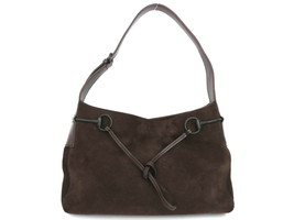 Authentic GUCCI Dark Brown Suede Leather Shoulder Bag Purse - $124.38