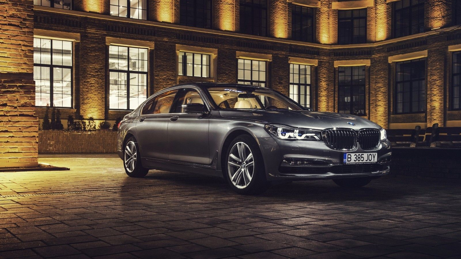 Primary image for 2017 BMW 7 Series 24X36 inch poster, sports car