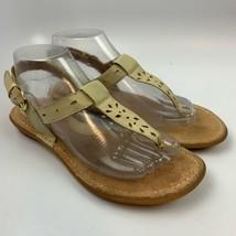 B.O.C Born Concept 8 US M Women Sandals T Strap Shoes Beige CHA15 J08911... - $19.77