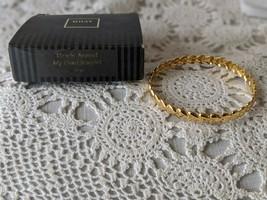 Avon Hearts Around My Heart Gold Tone Bangle Bracelet - $12.60
