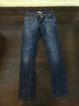 Girl's Levi's 711 Skinny Blue Denim Jeans 12 Reg Adjustable Waist Stretch - $14.99