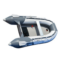 BRIS 8.2 ft Inflatable Boat Pontoon Dinghy Raft Boat With Air-deck Floor image 3