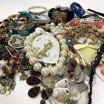 Vtg to Mod Costume Jewelry Lot Boho Metal Retro Statement 2+ Lbs some si... - $44.50