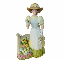 Avon Figurine 2008 Presidents Club Mrs Albee award garden flower pitcher decor  - $58.00