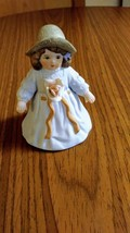 Giordano 1986 Handcraft Fine Bisque Porcelain Figurine Bessie H3805 Applied Rose image 1