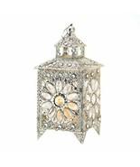 Crown Jewels Silver-tone Candle Lantern - $34.63
