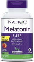 Natrol Melatonin Fast Dissolve Tablets, Strawberry flavor, 5mg, 150 Count - $14.80
