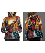 SpiderMan Hoodie Zipper Fullprint Women - $50.99+