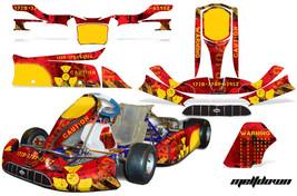 Go Kart Graphics Kit Decal Sticker Wrap For Tony Kart Venox MELTDOWN YEL... - $197.95