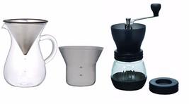 1.1 Liter Kinto Carafe with Strainer and Hario Skerton Ceramic Coffee Mi... - $79.19