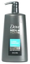 1 Bottle Dove 23.5 Oz Men Care Clean Comfort Micro Moisture Body & Face Wash - $20.99