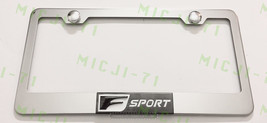 3D F Sport Lexus Stainless Steel License Plate Frame Rust Free W/ Bolt Caps - $22.99