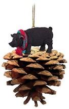 Conversation Concepts Pig Black Pinecone Pet Ornament - $12.99