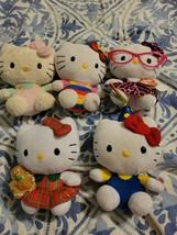 Lot Of 5 Hello Kitty  Beanie Babies  small plush lot - $23.36