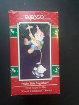 Enesco Yule Tide Together Ornament Great Outdoors Series Christmas Holiday 1992 - $9.85