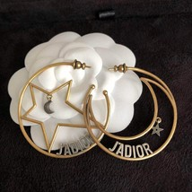 AUTHENTIC Christian Dior 2018 LIMITED EDITION J'ADIOR LARGE HOOP EARRINGS GOLD  image 3