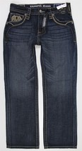 NWT Express Blake Loose Boot Cut Blue Jeans MENS 32 x 32 Distressed Wash - $49.99