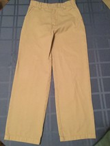 Boys Size 10  Austin Clothing Co. pants khaki uniform  flat front - $4.79