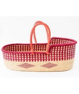 Moses basket for baby with leather handle, Moses basket, Baby bassinet,b... - $150.00